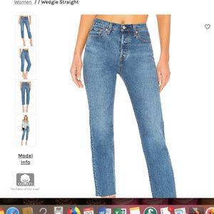 """NWT Levi's Wedgie Fit Straight Jeans 28"""""""